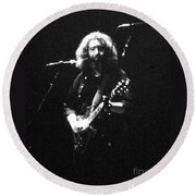 Round Beach Towel featuring the photograph  Music - Grateful Dead by Susan Carella