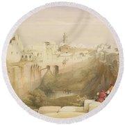 Jerusalem, April 12th 1839, Plate 12 Round Beach Towel