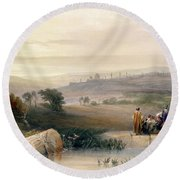Jerusalem, April 1839 Round Beach Towel