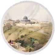 Jerusalem, April 9th 1839, Plate 16 Round Beach Towel