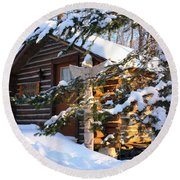 Jester Haus Round Beach Towel by Pat Purdy