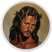 Jesus Christ Superstar Round Beach Towel by Paul Meijering