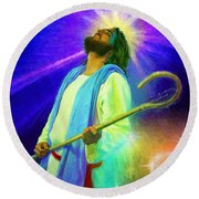 Jesus Rocks Round Beach Towel