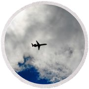 Jet Airplane Round Beach Towel