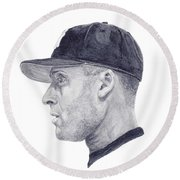 Jeter Round Beach Towel by Tamir Barkan