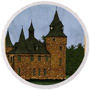 Jethro's Castle Round Beach Towel