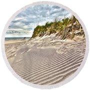 Jetty Four Dune Stripes Round Beach Towel