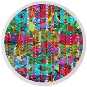 Jewel Stones Sprinkle Abstract  Navinjoshi  Rights Managed Images Graphic Design Is A Strategic Art  Round Beach Towel by Navin Joshi