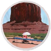 Jewelry Seller Round Beach Towel