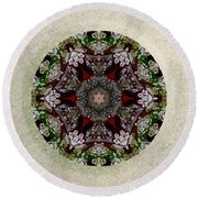 Jewels Of The Sea  Round Beach Towel