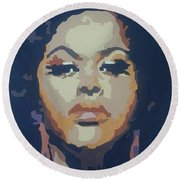 Jill Scott Round Beach Towel