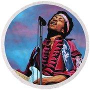 Jimi Hendrix 2 Round Beach Towel
