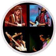 Jimi Hendrix Collection Round Beach Towel