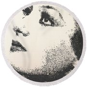 Joan Crawford Round Beach Towel