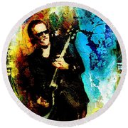 Joe Bonamassa Madness Round Beach Towel