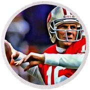 Joe Montana Round Beach Towel