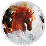 Joe Tj Apache Round Beach Towel by Barbie Batson