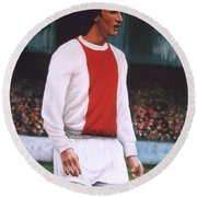 Johan Cruijff  Round Beach Towel by Paul Meijering