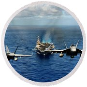 John C. Stennis Carrier Strike Group Round Beach Towel