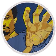 John Legend Round Beach Towel