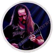 John Petrucci Painting Round Beach Towel