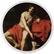 John The Baptist  Round Beach Towel