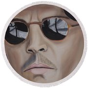 Johnny Be Good Round Beach Towel