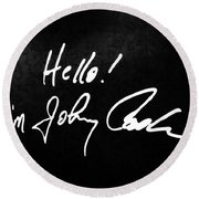 Johnny Cash Museum Round Beach Towel by Dan Sproul