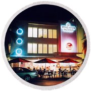 Johnny Rockets Polaroid Round Beach Towel