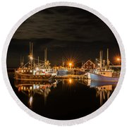 John's Cove Reflections - Revisited Round Beach Towel