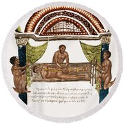 Round Beach Towel featuring the photograph Joint Dislocation Treatment, 1st by Science Source