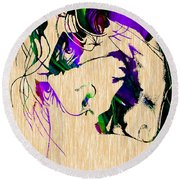 Joker Collection Round Beach Towel by Marvin Blaine