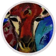 Jolly Giraffe  Round Beach Towel