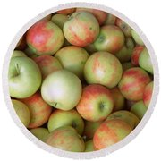 Round Beach Towel featuring the photograph Jonagold Apples by Joseph Skompski