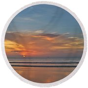 Jordan's First Sunrise Round Beach Towel