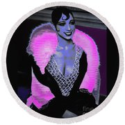 Josephine Baker The Original Flapper Round Beach Towel