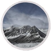Journey Into The Realms Above Round Beach Towel