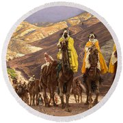 Journey Of The Magi Round Beach Towel