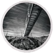 Journey To The Centre Of The Earth Round Beach Towel