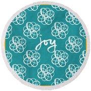 Joy Boho Floral Print Round Beach Towel