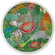Joy Of Nature Limited Edition 2 Of 15 Round Beach Towel by Gabriela Delgado