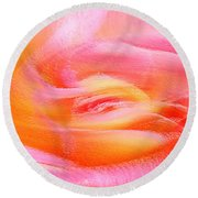 Joy - Rose Round Beach Towel
