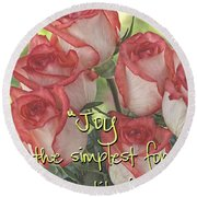 Joyful Gratitude Round Beach Towel