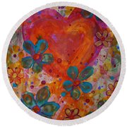 Joyful Noise Round Beach Towel