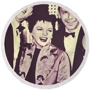 Judy Garland And Friends Round Beach Towel by Jay Milo