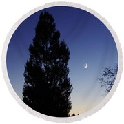 Julian Night Sky 2013 A Round Beach Towel