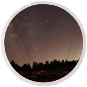 Julian Night Sky Milky Way Round Beach Towel