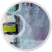 Junction- Abstract Expressionist Art Round Beach Towel