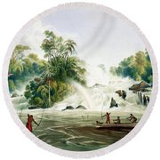 Junction Of The Kundanama Round Beach Towel