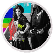June Carter Cash Johnny Cash In Costume Old Tucson Az 1971-2008 Round Beach Towel